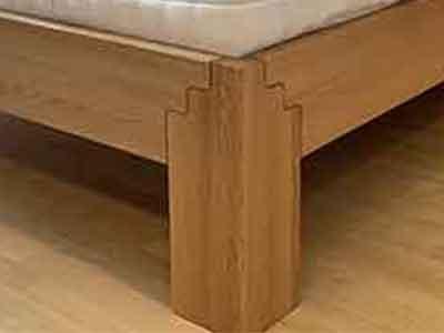 Massivholz-Bett-Loca-Detail